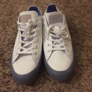 Converse white/purple sneakers